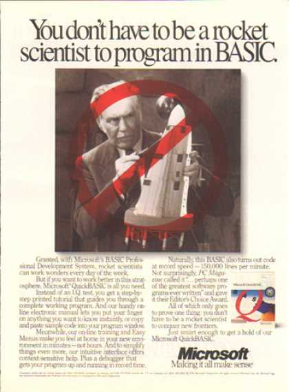 Microsoft Quick Basis – Program (1991)