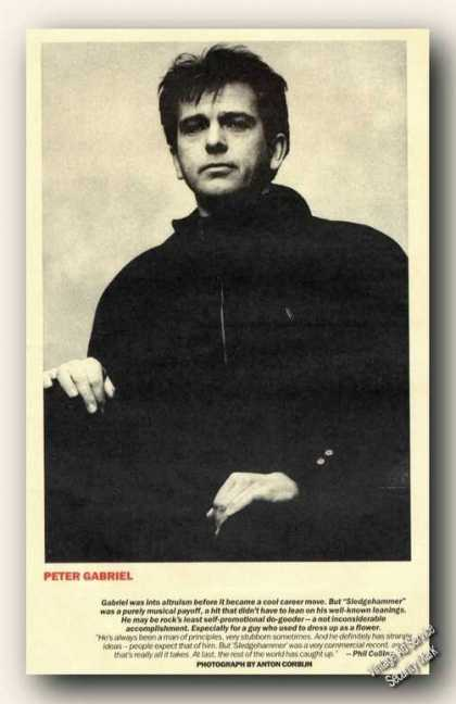 Peter Gabriel Magazine Picture Print Feature (1986)