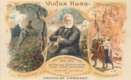 Chocolate Label with Victor Hugo
