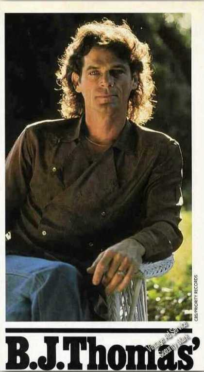 B. J. Thomas Collectible Magazine Print Photo (1984)