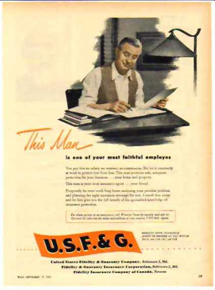 United States Fidelity & Guaranty Co. – faithful employees (1951)