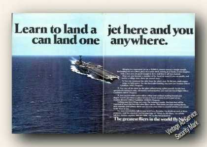 Aircraft Carrier Learn To Land Here Navy (1973)