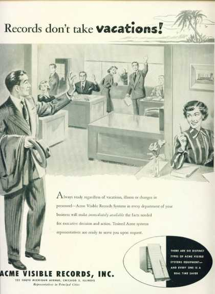 Acme Visible Records Systems Ad C (1957)