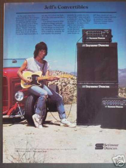 Jeff Beck Photo Seymour Duncan Guitar Amp (1985)
