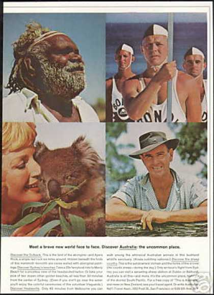 Australia Travel Aborigine Koala Bear Lifeguard (1964)