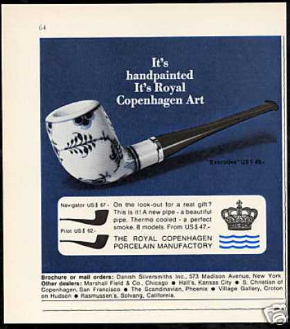 Royal Copenhagen Tobacco Pipe Vintage Photo (1971)