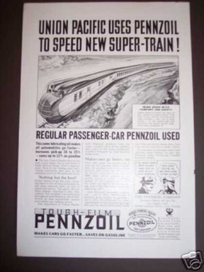 Union Pacific Super Train Pennzoil (1934)