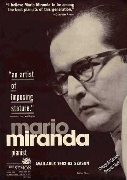 Mario Miranda Photo Pianist Booking (1962)
