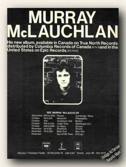 Murray Mclauchlan Photo Tour & Music Canada (1972)