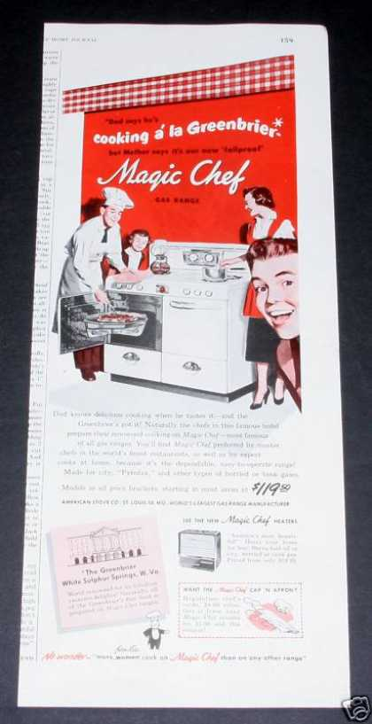 Magic Chef Gas Range, Greenbriar (1950)