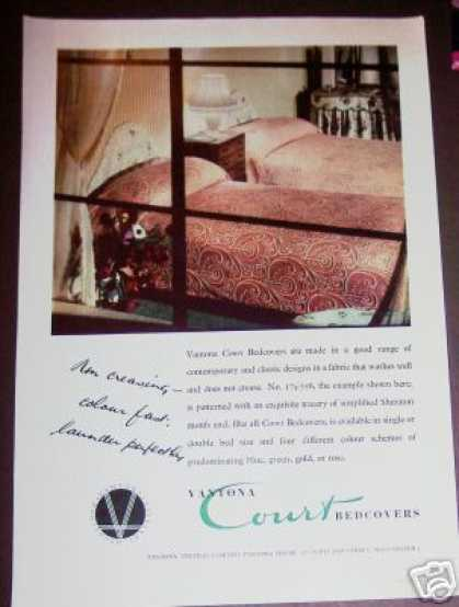 Vantona Court Textiles Bedcovers Trade (1949)
