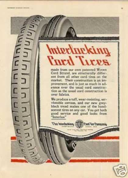 Interlocking Cord Tire (1920)