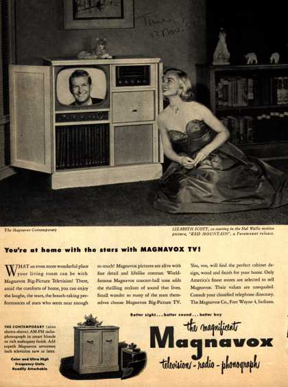 Magnavox Company's Radio Phonograph Television – You're at home with the stars with Magnavox TV (1951)
