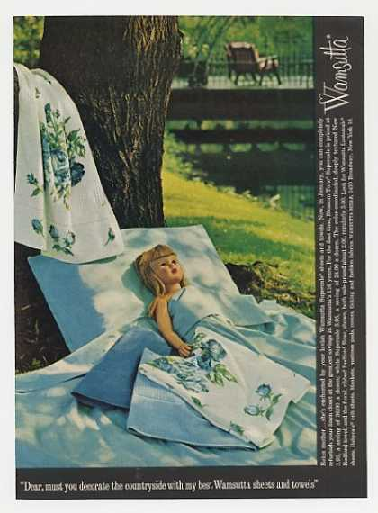 Elizabeth Doll Wamsutta Sheets Towels (1963)