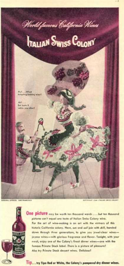 Italian Swiss Colony Wine Dance Doll (1946)