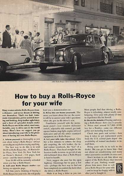 Rolls- Royce How To Buy a Rr 4 Your Wife (1964)