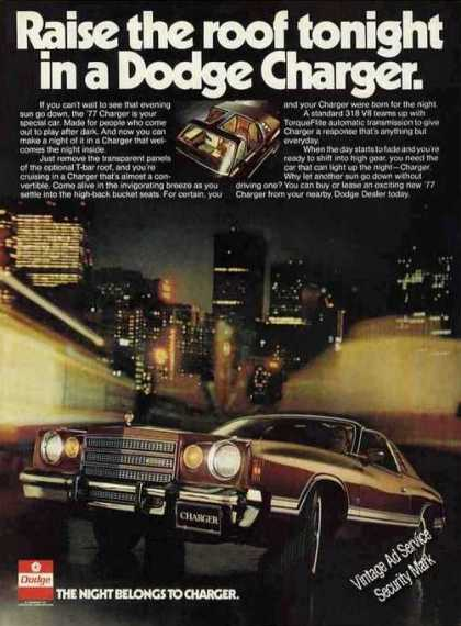 "Dodge ""The Night Belongs To Charger"" Cool Car (1977)"