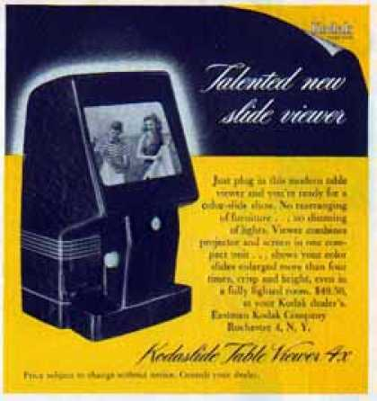 Kodak Camera – Kodaslide Table Viewer 4x (1951)