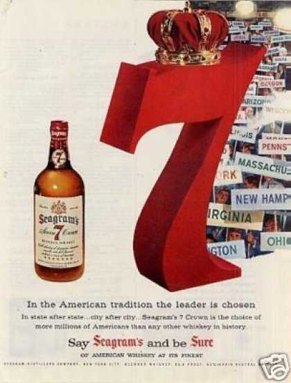 Seagram's 7 Crown Whiskey (1956)