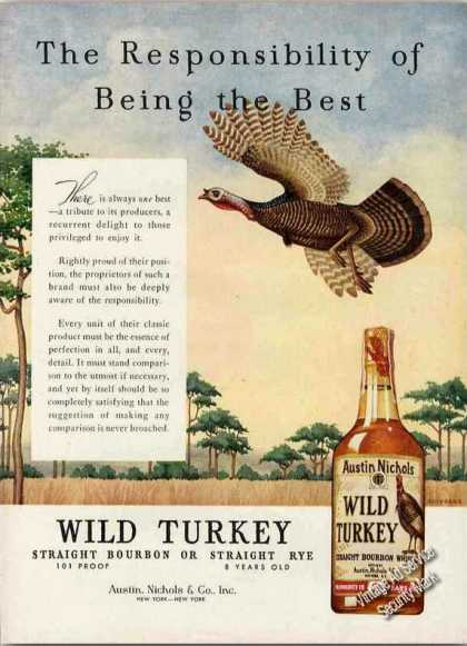 "Wild Turkey ""Responsibility of Being the Best"" (1960)"