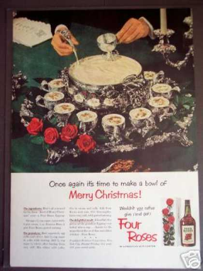 Four Roses Whiskey Eggnog Recipe (1951)
