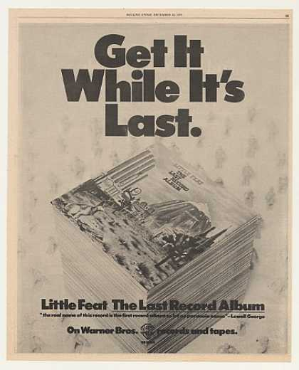 Little Feat The Last Record Album Warner Bros (1975)