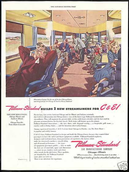 Pullman Standard Train Chicago Liners Eastern (1946)