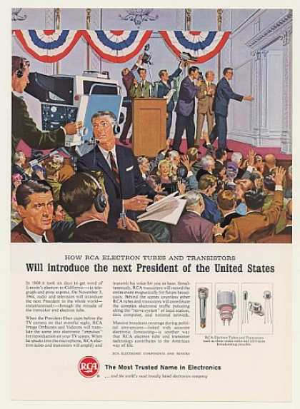 '64 RCA Electron Tubes TV Camera Introduce President (1964)