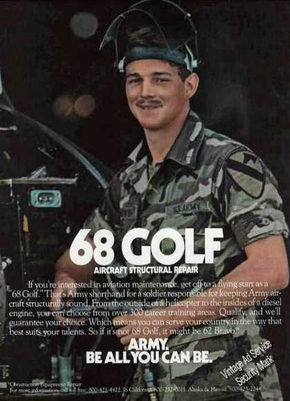 "Army Recruiting ""68 Golf Aircraft Repair"" (1983)"