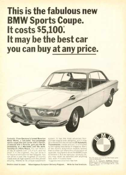 Bmw Sport Coupe Only $5,100 (1966)