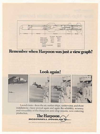 McDonnell Douglas Harpoon Missile Graph Launch (1977)