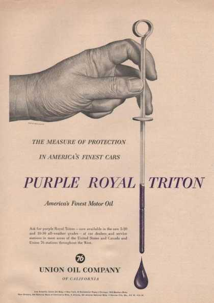 Purple Royal Triton Motor Oil (1955)