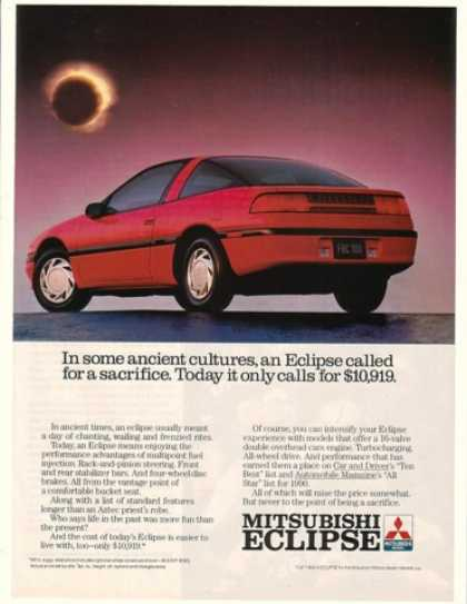 Red Mitsubishi Eclipse Ancient Sacrifice (1990)