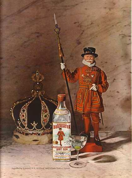 Beefeater's Distilled London Dry Gin (1964)