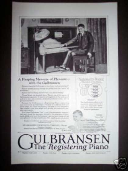 Original Antique Gulbransen Registering Piano (1923)