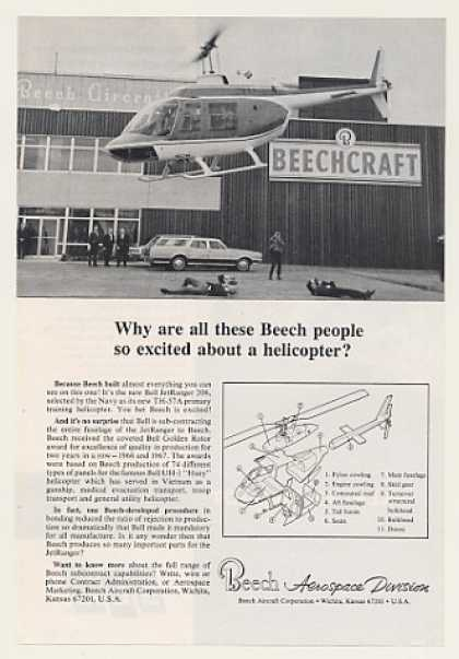 Beechcraft Bell JetRanger 206 Helicopter Photo (1968)