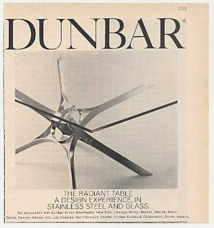 Dunbar Radiant Table Stainless Steel Glass (1968)