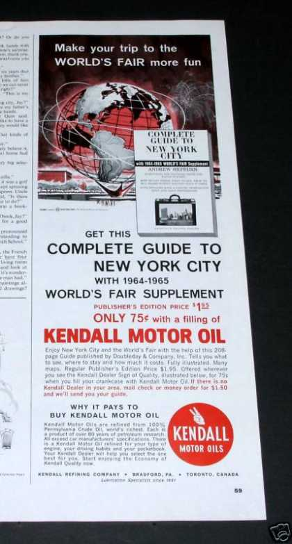 Kendall Oil, 64 Worlds Fair, Ny (1964)