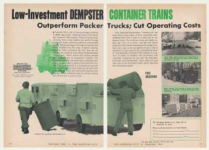 Dempster Garbage Container Train (1964)