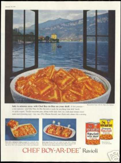 Chef Boy Ar Dee Ravioli Lake Como Alps (1960)