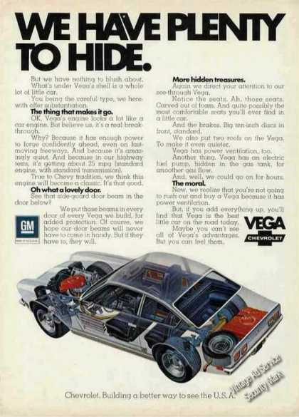 "Chevrolet Vega ""Plenty To Hide"" Cutaway View (1972)"