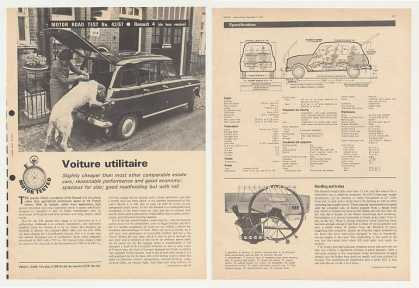 Renault 4 Road Test 6-Page British Article (1967)