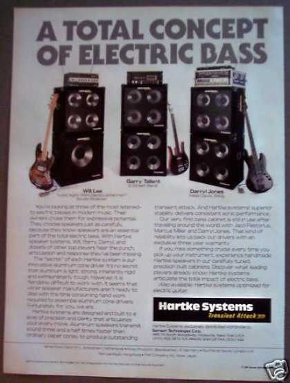 Hartke Speaker Systems Music (1988)