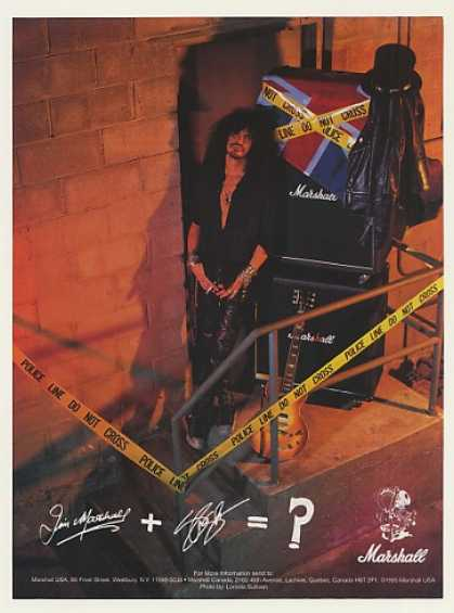 Guns N' Roses Slash Marshall Amp Photo (1996)