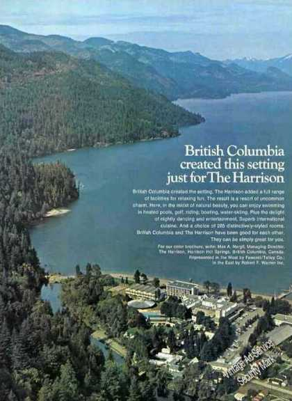 Beautiful Aerial Photo the Harrison Canada (1973)