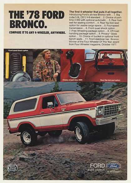 Ford Bronco Ranger XLT 4-Wheeler Photo (1978)