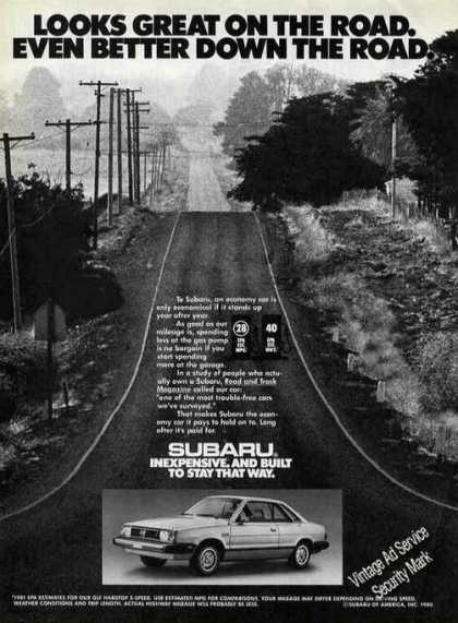 "Subaru ""Looks Even Better Down the Road"" (1981)"