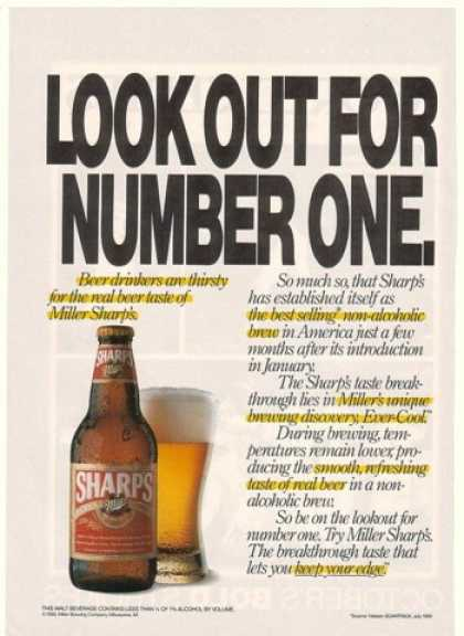 Miller Sharp's Beer Look Out for Number One (1990)