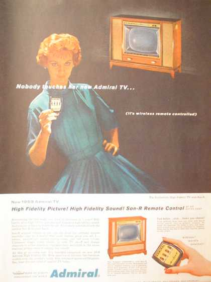 Admiral TV Hi Fidelity with Remote control (1958)