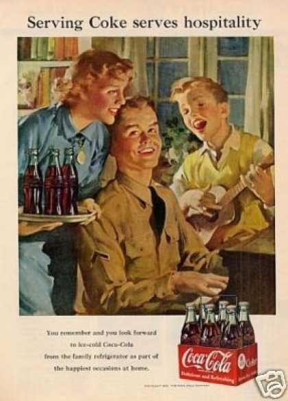 "Coca-cola Ad ""Serving Coke Serves... (1951)"